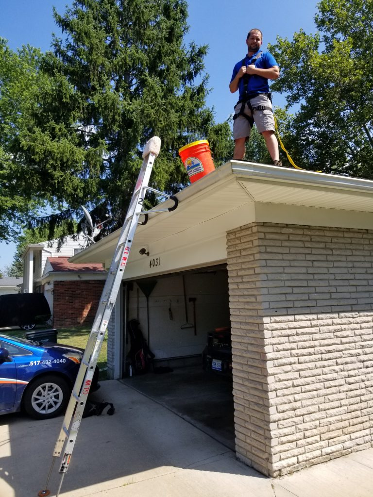 Safe Gutter Cleaning Practice
